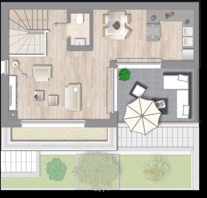 Wohnung 1 - Staffelgeschoss